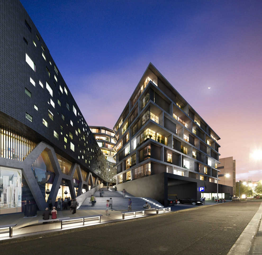 Cremorne Mixed-use Complex by Architects EAT
