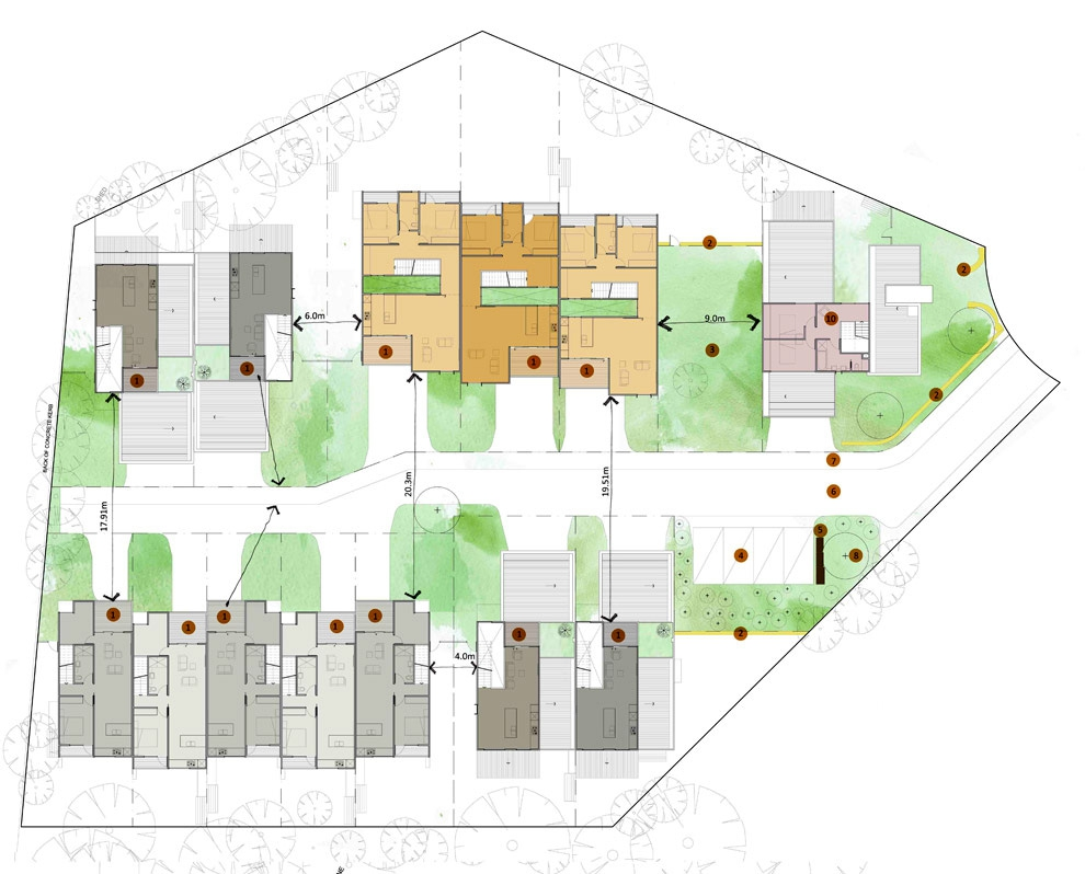 Benwerrin Masterplan & Townhouses by Architects EAT