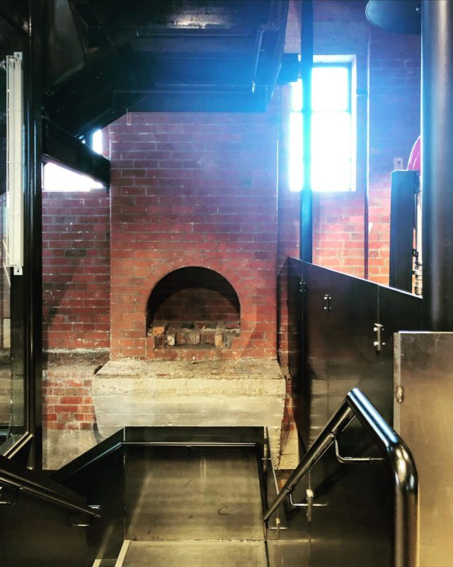Negotiating heritages #EATAlfredStables The insertion of the glass lift shaft and steel staircase has been an exceptionally challenging but rewarding experience. . Thanks to our project architects @emmagauder @valonia_octavia 👏👏👏 . #architectseat® #eatinteriors #EATworkplace #thealfred #alfredhealth #warehouseconversion #workplacedesign