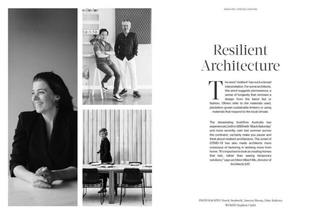 """Thanks @est_living for having us again in the 38th issue, this time we talked to #stephencrafti about """"Resilient Architecture""""  . #EATinthemedia #architectseat® #eatinteriors #resilientarchitecture #estliving #estlivingmagazine"""