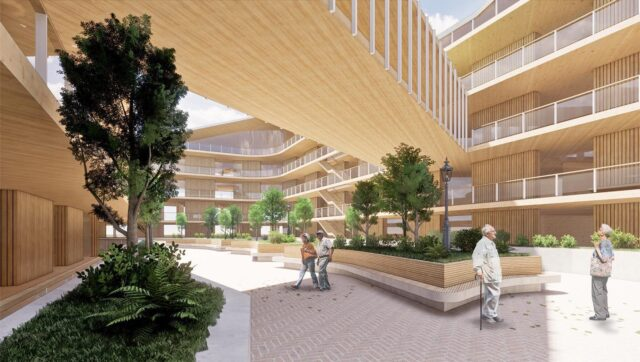 """Aged care. Retirement Living.  . The four interwoven dimensions of #wellbeing design: physical, psychological, social and ecological – for the potential of wellbeing to emerge, it is a matter of designing """"space"""" . #EATMaroondahVillage #architectseat® #eatinteriors #agedcare #residentialcare #retirementliving #clt #timberconstruction"""