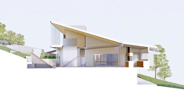 Touch the house lightly #EATWilliamsMosHouse #architectseat® #eatinteriors #eathouses™ #petermcintyre #peteranddionemcintyre #kew #sectionalperspective #architecturalillustration